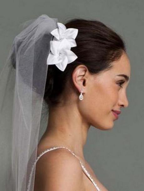 Chignon mariage avec voile