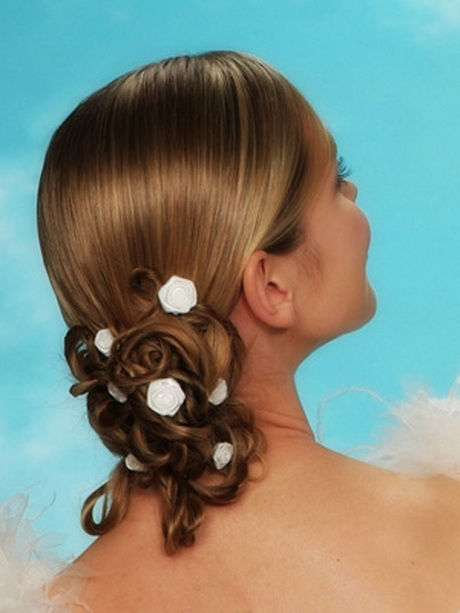 Chignons mariage cheveux mi longs - Chignon mi long ...