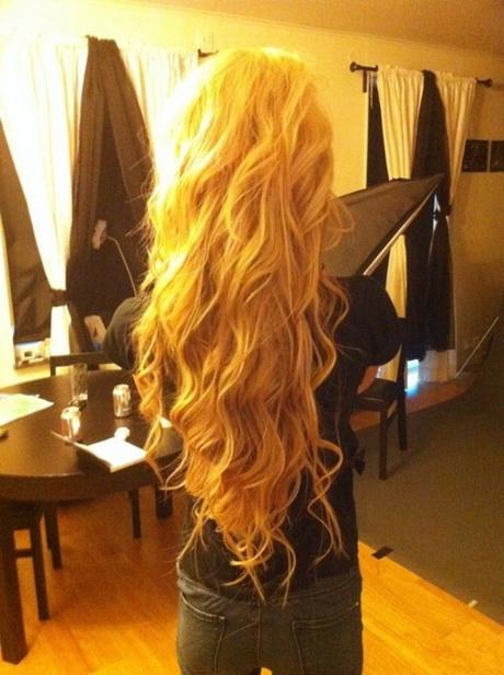 Coiffure cheveux tres long