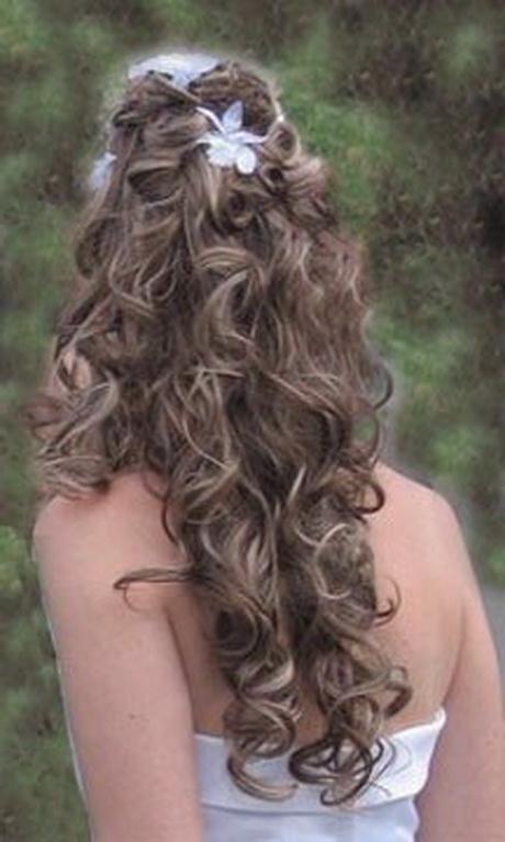 photo coiffure mariage cheveux bouclés. Idée photo coiffure mariage ...