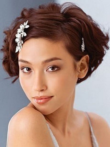 Coiffure mariage cheveux carre - Coiffure mariage carre plongeant ...