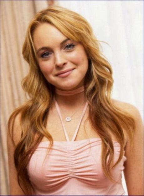 Lindsay Lohan cheveux blonds