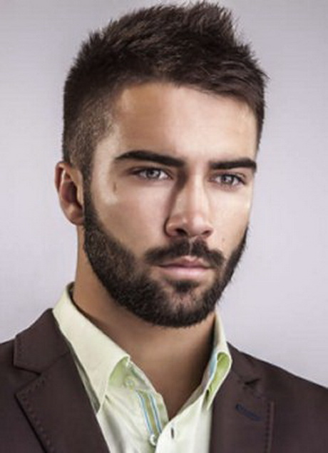 new short hairstyles for men with beards
