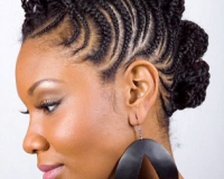 Coiffure Afro Nattes