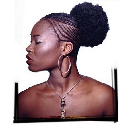 Coiffure afro tresses - Coupe avec des meches africaine ...