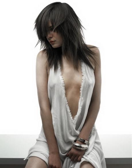 Degrade effile cheveux long