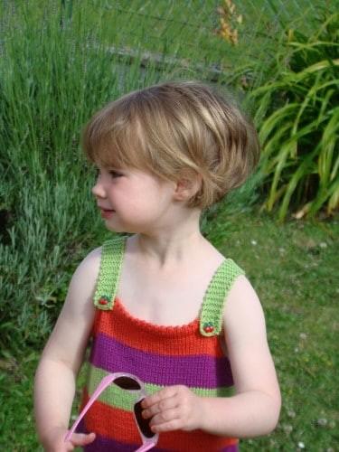 Carre plongeant enfant - Modele coupe petite fille ...