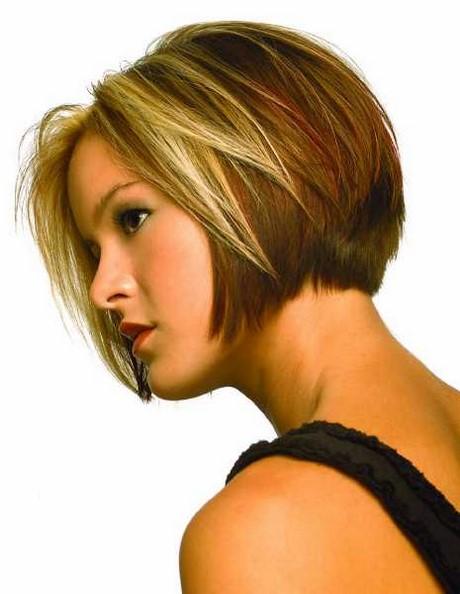 Photo coupe de cheveux carré plongeant effilé
