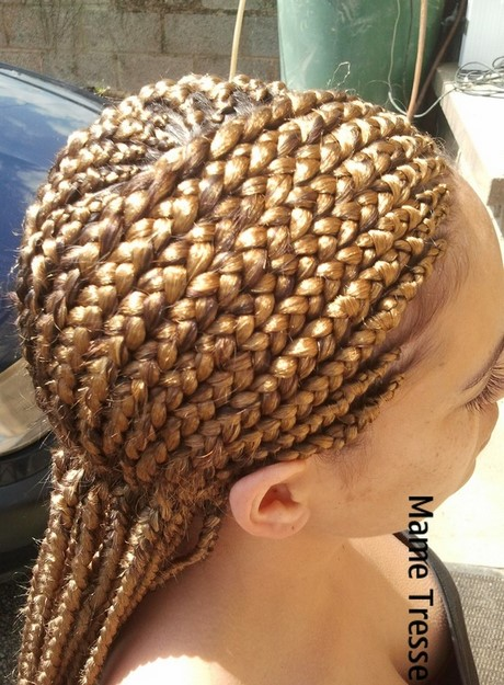 Photo tresse africaine rajout tresses - Tresse de fils de couleur ...