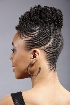 Tresse Africaine Avec Cheveux Naturel