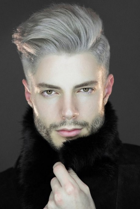 Coloration homme cheveux blancs - Coloration blond homme ...