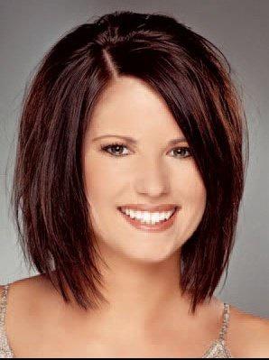 Coupe de cheveux femme ronde photos