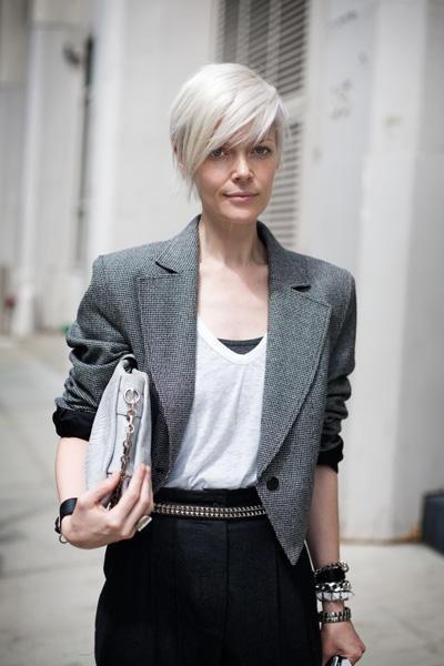 Coupe pour cheveux blancs femme
