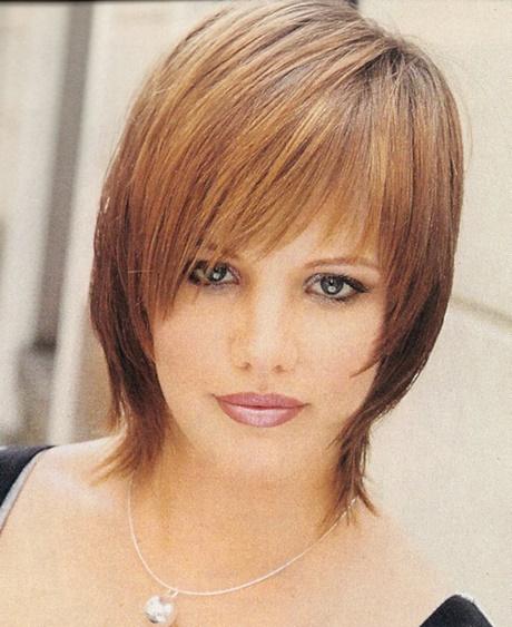 Coupe cheveux fins sans volume visage rond