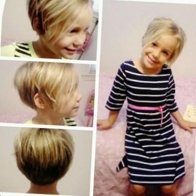 Coupe de cheveux court fille 10 ans
