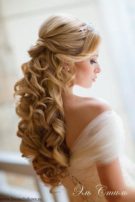 Chignon cheveux long mariage