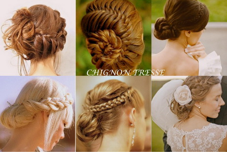 coiffure chignon tress mariage. Black Bedroom Furniture Sets. Home Design Ideas
