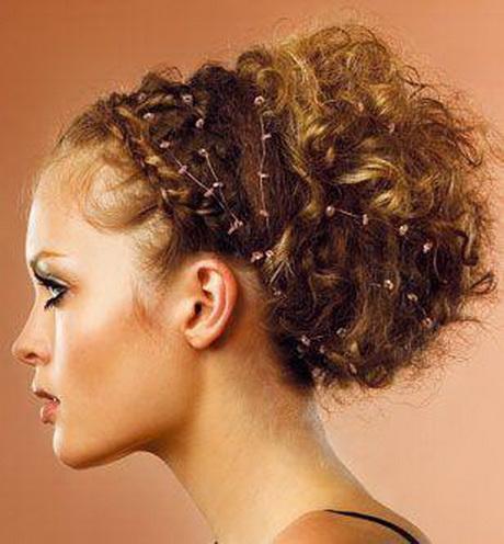 Coiffure cheveux frise