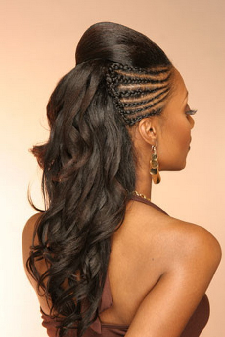 pretty black hairstyle with half coiffure de mariage africaine 95813
