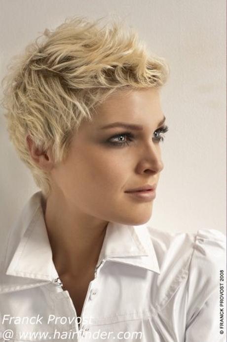 Coupe de cheveux femme court visage rond