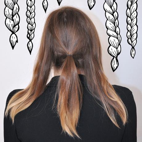 Idée chignon cheveux mi long