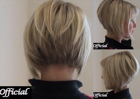 Modele de coiffure au carre plongeant